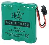 Eurosell Akku AKkus für Telefon Mobilteil für Panasonic KX-T3806/3865 Bosch CT-COM214 316 413 416 616 Batterie Doro Walk & Talk 970/980 Philips TD9203 9204 9213 9240 9241 9272 9603 9673 9804 9841