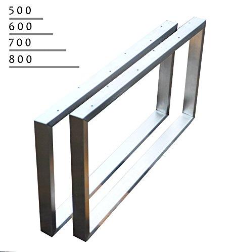 Kufengestell Tischgestell Edelstahl 201 Rahmentisch Tischkufe Tischuntergestell (600mm x300 mm)