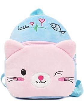 Zhhlinyuan Fashion Baby Children Plush Shoulder Bag Cartoon Mochila Cute Kid's School Bag