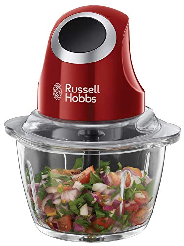 Russell Hobbs 24660-56 Hachoir Electrique Bol Préparation 1L Desire, Lames Acier Inoxydable Amovibles, Compatible Lave Vaisselle