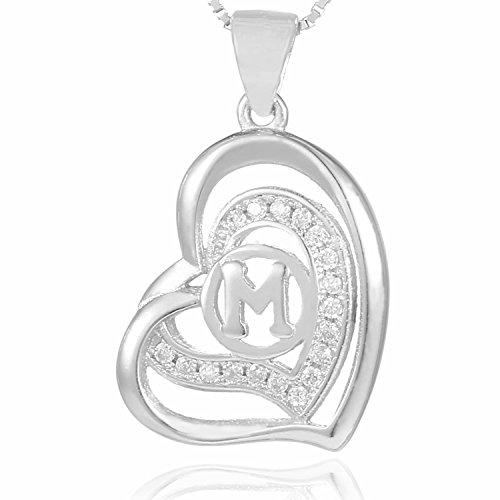 Morella collar corazón-letra M
