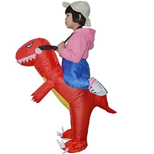 Wafalano Aufblasbare Dinosaurier Lustiges Kleid Kinder Halloween Kostüm Dragon Party Kleidung Reiten Karneval Cosplay Kostüm Phantasie Körper ()