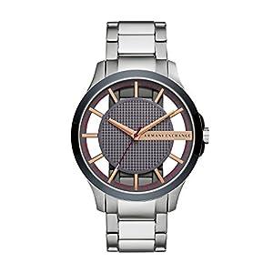 Armani Exchange Vyrams Analog Quarz Smart Laikrodis Rankinis Laikrodis mit Edelstahl Armband AX2405