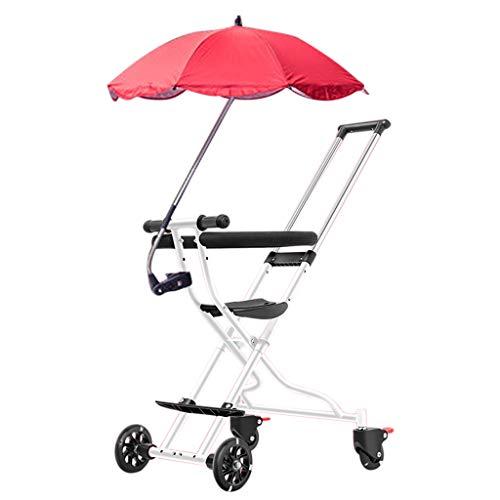 Baby carriage Faltbarer Zweiwege-Kinderwagen mit Vier Rädern - Leichter Kinderwagen mit Sonnenschirm Outdoor Travel System Wagen mit Zwei Bremsen für Unisex, 100 cm