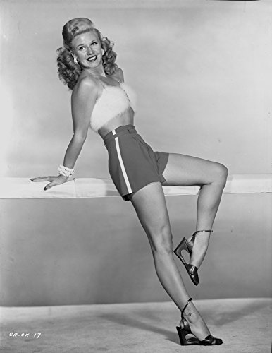 The Poster Corp Ginger Rogers Smiling in Mini Skirt with High Heels Photo Print (20,32 x 25,40 cm) -