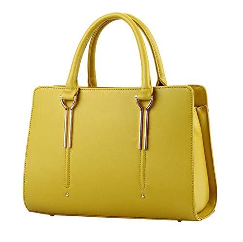 Damen Messenger Bag Casual Fashion Luxus Damen Handtaschen Designer Tasche Top Griff, Gelb - gelb - Größe: Einheitsgröße