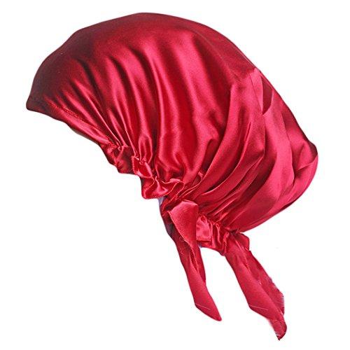 Emmet Damen Bequem Seide Nachtmütze Kopfbedeckung Schlafmütze Haar schützen? (Grüne Für Verkauf Perücken)