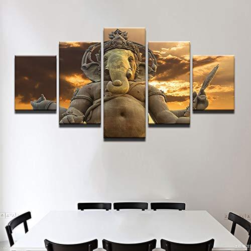 Rymh Druck auf leinwand 5 Panel Hinduismus Bild wandkunst Schlafzimmer wohnkultur wohnkultur Bedruckte leinwände kein gestaltet,F,55x100cm