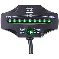 searon batería de 12V/24V Mini LED indicador de carga y descarga para carros de golf marina motocicleta ATV Camión Remolque carretilla elevadora Scrubber