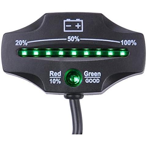 searon batería de 12V/24V Mini LED indicador de carga y descarga para carros de golf marina motocicleta ATV Camión Remolque carretilla elevadora