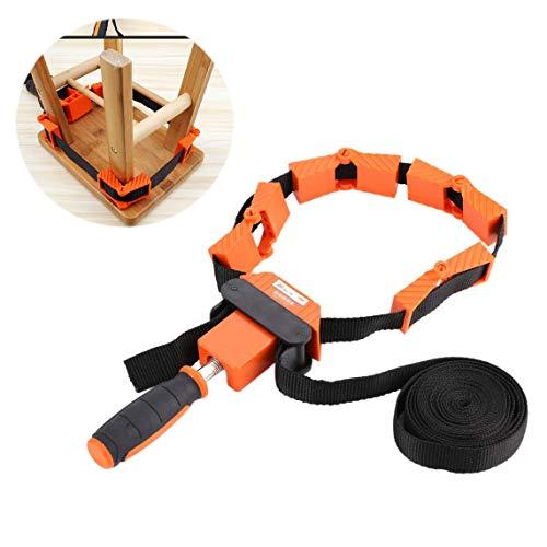 Multifunktionsrahmen Bandspanner Spannklemme Bandzwinge Rahmen-Bandspanner mit 4 Spannbacken und 4-Meter-Nylonband für die Holzbearbeitung