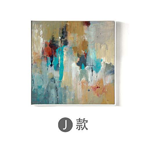 zlhcich Abstrakte dekorative Malerei Hotel Hotel Gang Ölgemälde Sprühmalerei Kern Erde Textur J 60x60cm