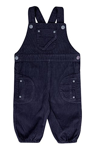 Katvig Baby Latzhose Overall aus Bio-Baumwolle in dunkelblau, Größe:92, Farbe:dunkelblau