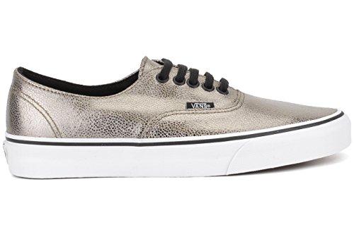Vans U AUTHENTIC Unisex-Erwachsene Sneakers (metallic) bronze/true wh