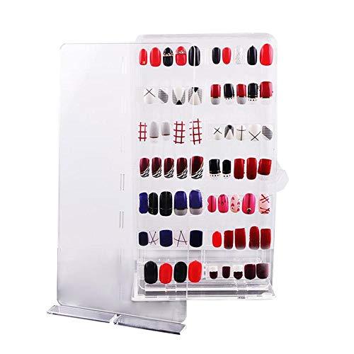 Große Kapazität Hochwertiger Acryl Nagel Tip Display Display Box Nagel Aufbewahrungsbox Ständer Nägel Farbkarte