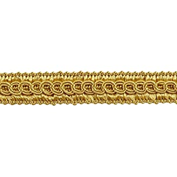 Sold by The Yard D/ÉCOPRO 1//2 inch Basic Trim Decorative Gimp Braid B7 Style# 0050SG Color: Light Gold