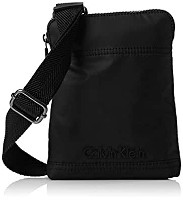 CALVIN KLEIN ACCESSORI Men Metro Mini Flat Crossover Shoulder Bags, black, size