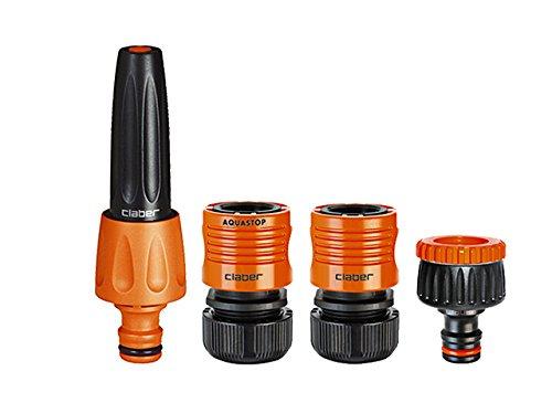 claber-51359-8802-lancia-starter-kit-4-pezzi-nero-arancione