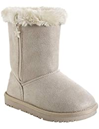 dab5c58033bd4 Amazon.fr   Bottes et boots fourrées - Beige   Chaussures ...