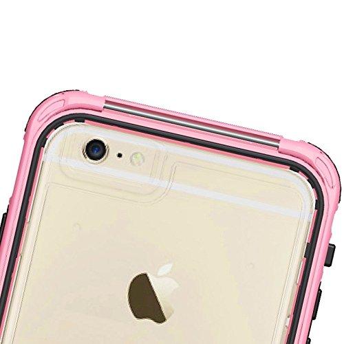 Wkae Case Cover abs material wasserdichte schutzhülle mit button &fingerabdruck freischalten und touchscreen - funktion für das iphone 6 &65 ( Color : Dark Blue ) rose