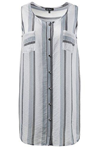 Ulla Popken Femme Grandes tailles Top 705026 Multicolore