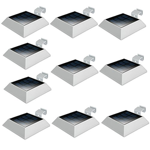 uniquefire-new-version-white-color-solar-lights-6-led-waterproof-gutter-outdoor-solar-wall-lights-sp