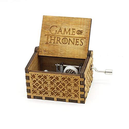 IsEasy Türkis Glockenspiel Orginal Soundtrack Spieluhr, Klassische hölzerne Glockenspiel-Handkurbel, personalisierte Melody Music Box, originelle Geschenkideen für Kinder (Game Thrones-1)