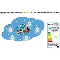 Deckenlampe mit Nachtlicht mit Motiv Pirat / Farbe: Blau (auch in anderen Farben erhältlich) Kinderlampe Kinderzimmerlampe Babylampe mit Nachtlicht Kinderlampe mit Nachtlicht