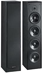 Bic America DV64 2-Way Tower Speaker - Black (Pair)