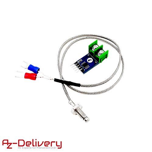 AZDelivery ⭐⭐⭐⭐⭐ MAX6675 Temperatur Sensor mit Sonde K-Typ und Jumper Wire für Arduino und Raspberry Pi -