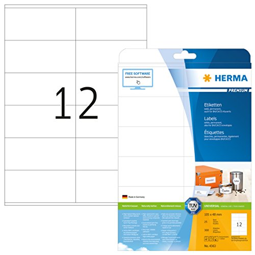 HERMA 4363 Bianco Etichetta per stampante autoadesiva etichetta per stampante