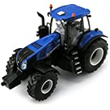 Britains - Tractor New Holland T8 435, color azul y negro (TOMY 43007)