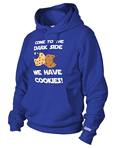 Jayess Come to The Dark Side WE Have Cookies - Herren UND Damen - Hoodie in Royalblau by Gr. (Cookie Monster Hoodie)