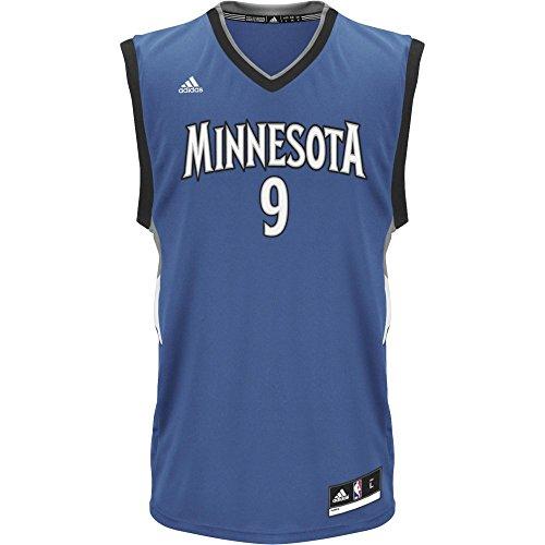 adidas INT Replica Jrsy Camiseta de Manga Corta, Hombre, (NBA Minnesota Timberwolves 1 316), XXS