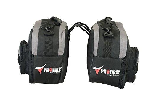 Profirst Eine Menge von Verlängerbar Motorrad Motorrad Gepäck Satteltasche Seitentasche Pannier Paketträger Wasserdicht - 45 bis 60 Liter Kapazität