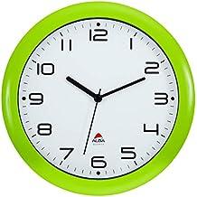 Alba Reloj de Cuarzo Clásico de Pared, Plástico, Verde, ...