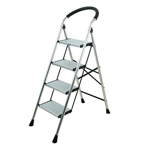 C-J-Xin Escalera de Metal, Escalera Antideslizante para el hogar Escalera para Exterior Escalera portátil Escalera Interior multifunción Tamaño 47 * 14 * 145CM Escalera de casa