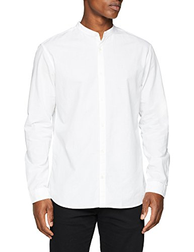 Jack & jones premium jprsummer mao shirt l/s sts, camicia formale uomo, bianco (white fit:slim fit), large