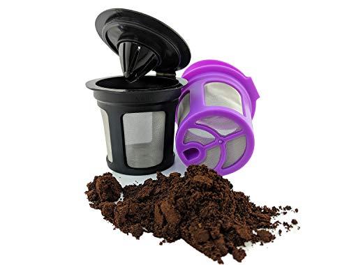 achfüllbar Single dienen k-cup Pod Kaffee Filter für Keurig 2.0K-elite k200-k6502Pack schwarz + violett ()