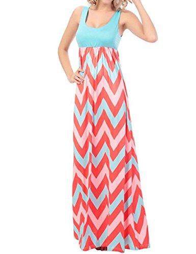 dragonpad-womens-summer-beach-sleeveless-striped-maxi-long-vest-dress-green-m