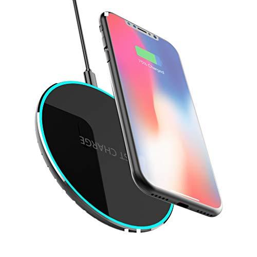 Wireless Charger Fast Induktive Ladestation Qi Wireless Ladegerät Also Normales Laden / Schnellladen Lademodi für iPhone XS/XR/X / 8 Plus/ 8 Galaxy S9/S9 plus/S8/S8 Plus und alle Qi Fähige Geräte(10W)