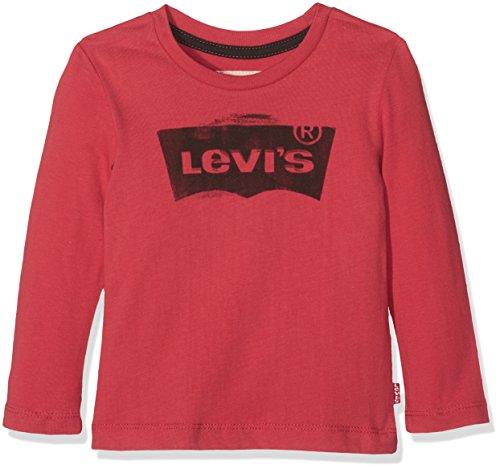 Levi's Kids Jungen Langarmshirt LS Tee Bat, Rot (Ketchup 38), 116 (Herstellergröße: 6A) (Ärmel, Lange Trim Gerippte)