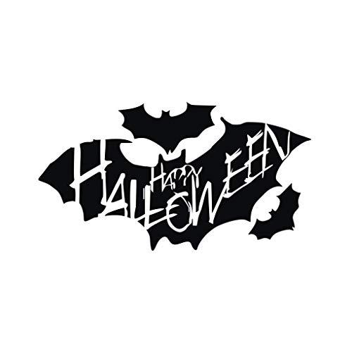 MARCU Home Bat Halloween Design PVC Wandaufkleber Aufkleber Wasserdicht Abnehmbare Wohnzimmer Wanddekoration Paste (Halloween Bat Design)