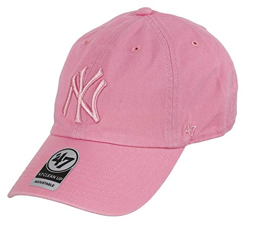 Gorra 47 Brand – Mlb New York Yankees Clean Up Curved V Relax Fit rosa talla 81fc0e18a4cd