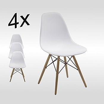 Stuhl esszimmerst hle k chenst hle 4 er set art dh0450 for Stuhl plastik holzbeine