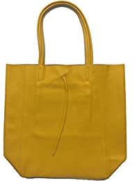 Vera Pelle - Bolso al hombro de Piel para mujer amarillo amarillo