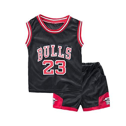 Mimiga Basketball Set NBA Nr.23 NBA- Bulls Jordan Lakers James Sportuniformen Für Jungen Ärmellose Sportbekleidung Atmungsaktive Shorts Anzüge