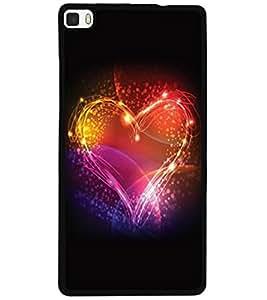 ColourCraft Beautiful Heart Design Back Case Cover for HUAWEI P8