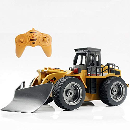 SOSAWEI Remote Control Construction Vehicle, RC Snow Shovels Alloy Bulldozer Full Function Remote Laader Vehicle 6 Channe