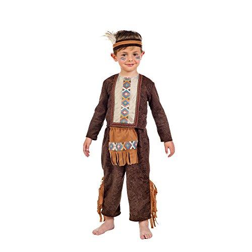 (Kleiner Indianer Kostüm Kinder Kostüm Klassiker Jungen 3-tlg braun - 3 Jahre)